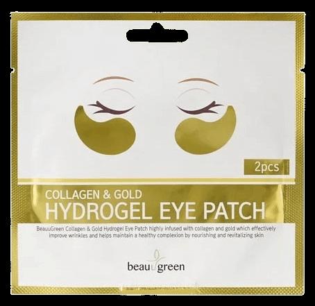 Гидрогелевые патчи для глаз BeauuGreen Collagen and Gold