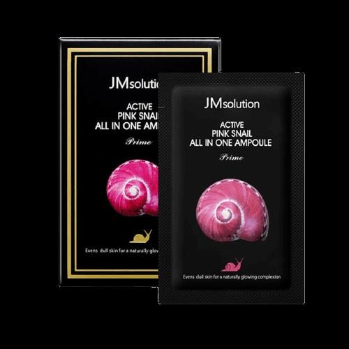 Маска для лица с муцином улитки Jmsolution Active Pink Snail