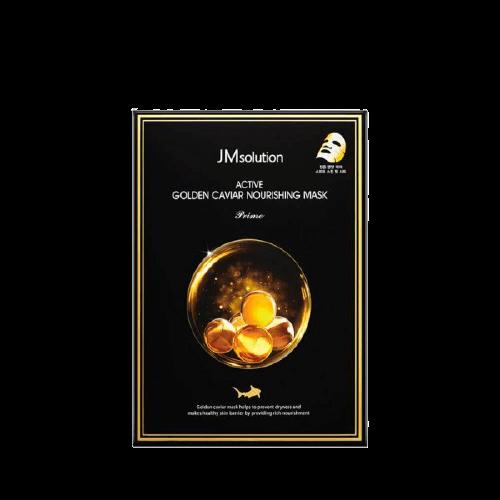 Ультратонкая маска с золотом и икрой Jmsolution Active Golden Caviar