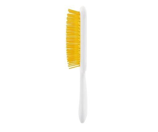 Расческа для волос Janeke Superbrush, белая с желтым