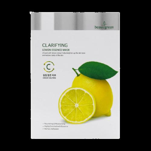 Тканевая маска для лица с экстрактом лимона BeauuGreen