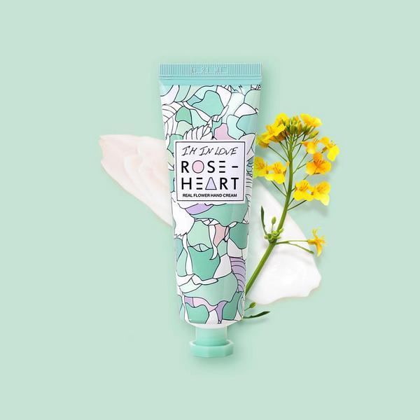 Увлажняющий и питательный крем для рук Roseheart Real Flower